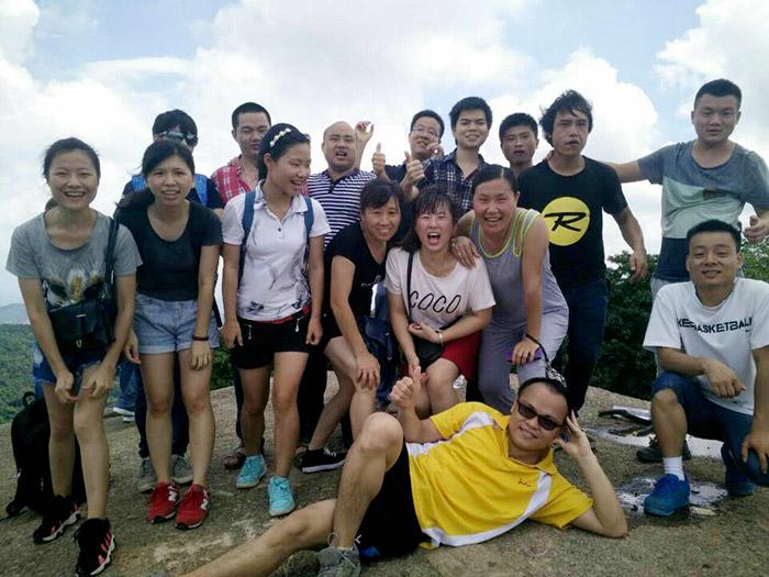 满海团队登顶羊台山-1