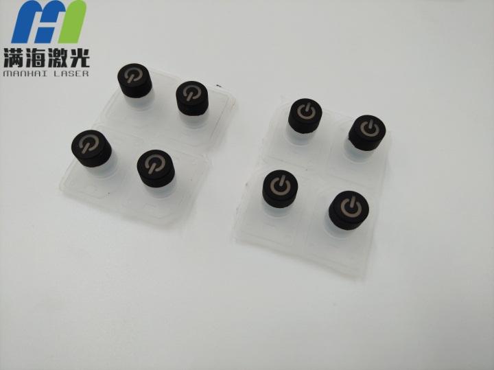 塑料喷油电源小按键塑料激光雕刻