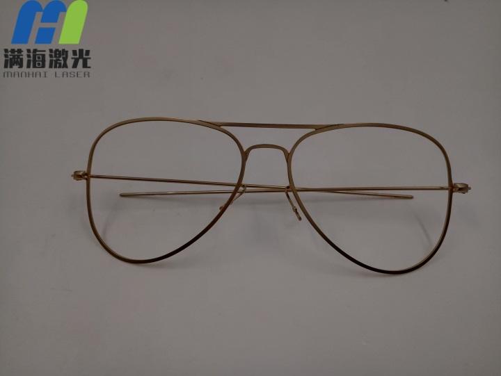 合金眼镜架激光打标