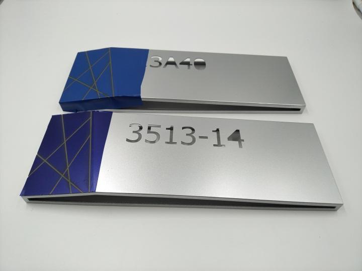高档写字楼铝合金标识标牌激光雕刻