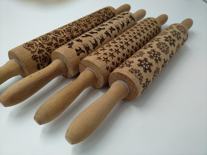木制擀面杖3D激光镭雕深度