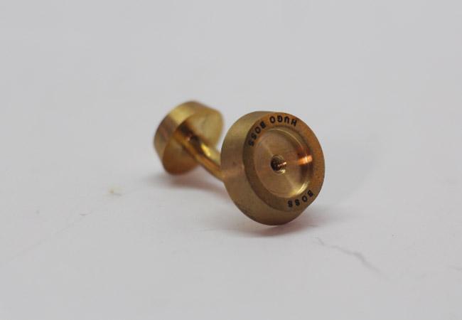 纯铜袖口钮激光打标