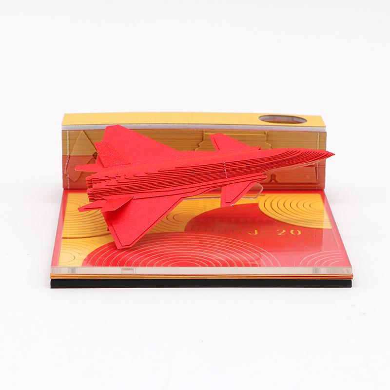 3d模型便签纸立体纸雕模型便签纸创意军事模型飞机便签纸厂家定制