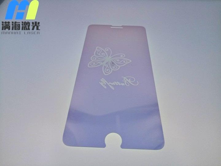 手机钢化玻璃膜激光镭射加工