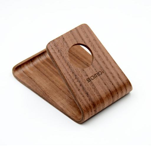 激光雕刻木制手机支架底座定制