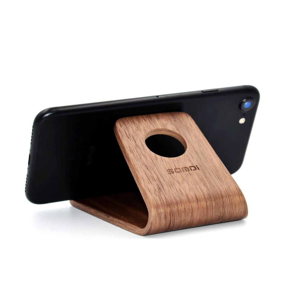 木制手机支架底座定制激光雕刻加工