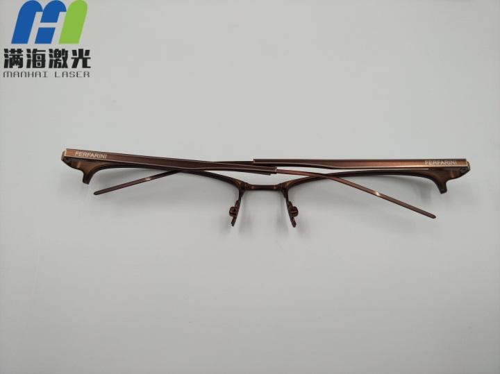 锌铝合金眼镜肶打标