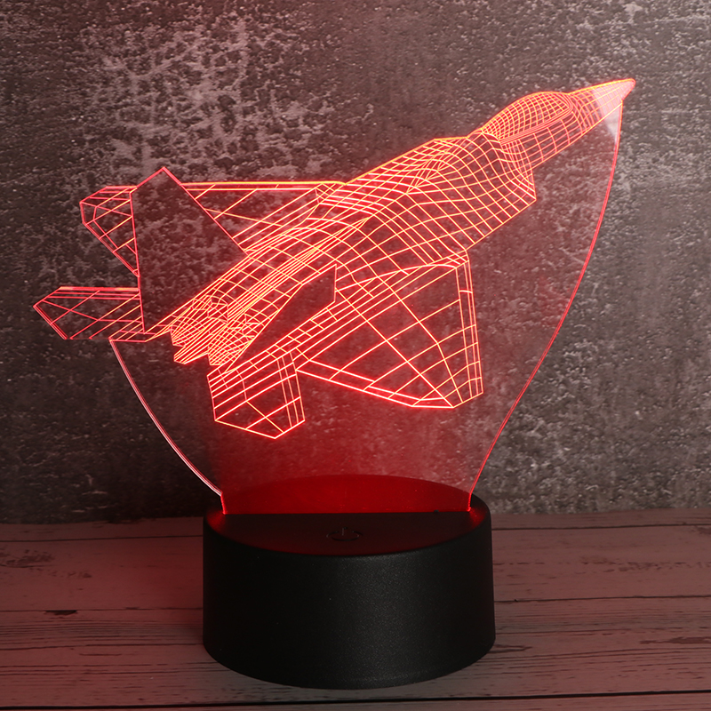 3d立体小夜灯创意亚克力小夜灯led触控小夜灯飞机定制