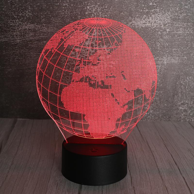 3d立体小夜灯led发光立体地球小夜灯插电小夜灯定制