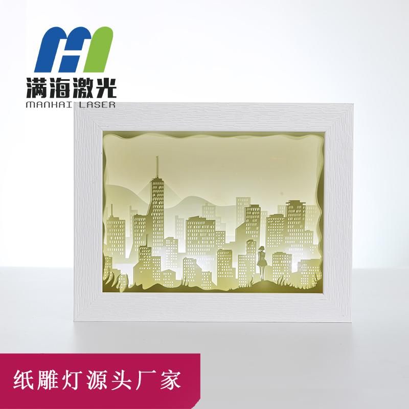光影纸雕灯小夜灯diy手工材料包定制批发