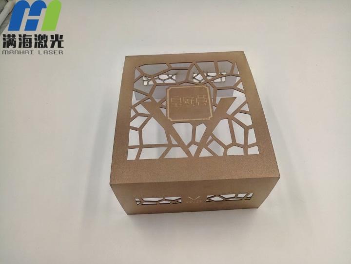 皇庭酒店纸制月饼盒激光切割
