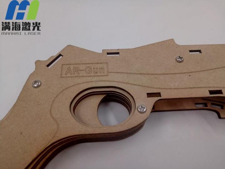 木质电子玩具枪外壳激光切割