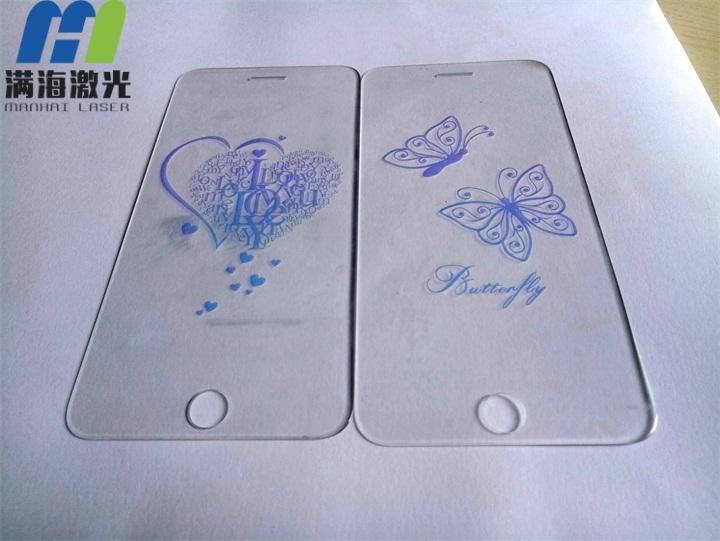 手机钢化玻璃膜泛彩光学镀激光镭雕