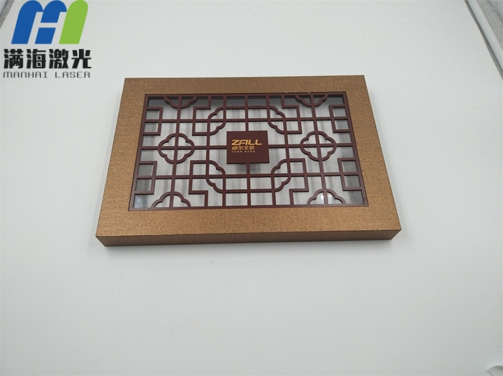 中秋纸制月饼盒激光镂空加工