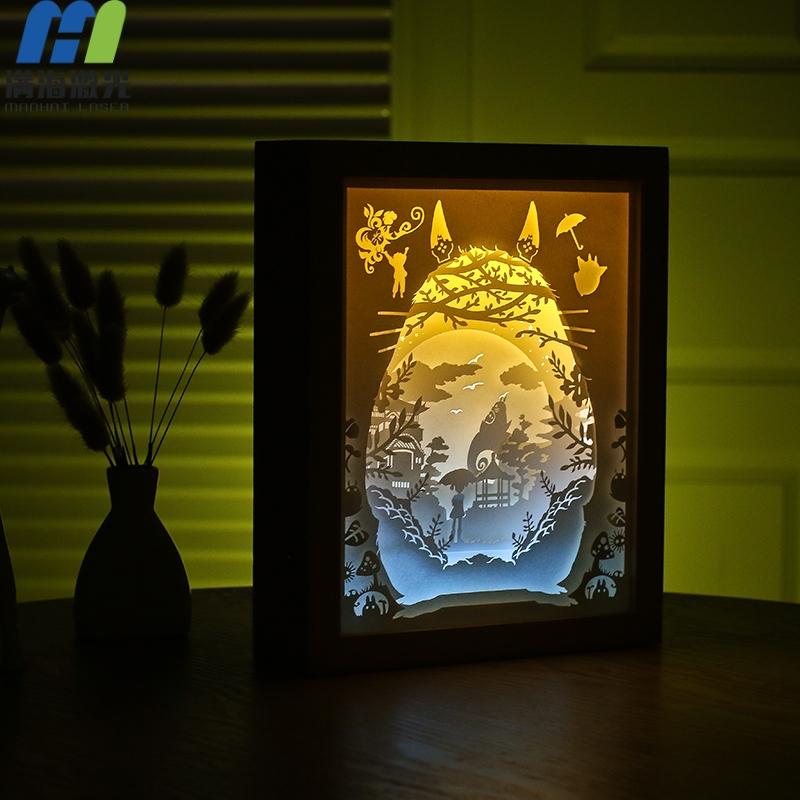 创意纸雕工艺品光影纸雕灯小夜灯定制