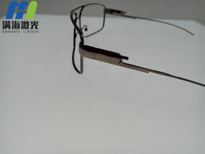 金属眼镜脚激光雕刻加工