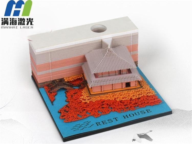 激光切割定制创意便签纸便利贴3D模型