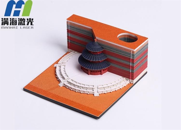 中国风故宫天坛立体模型便签纸定制