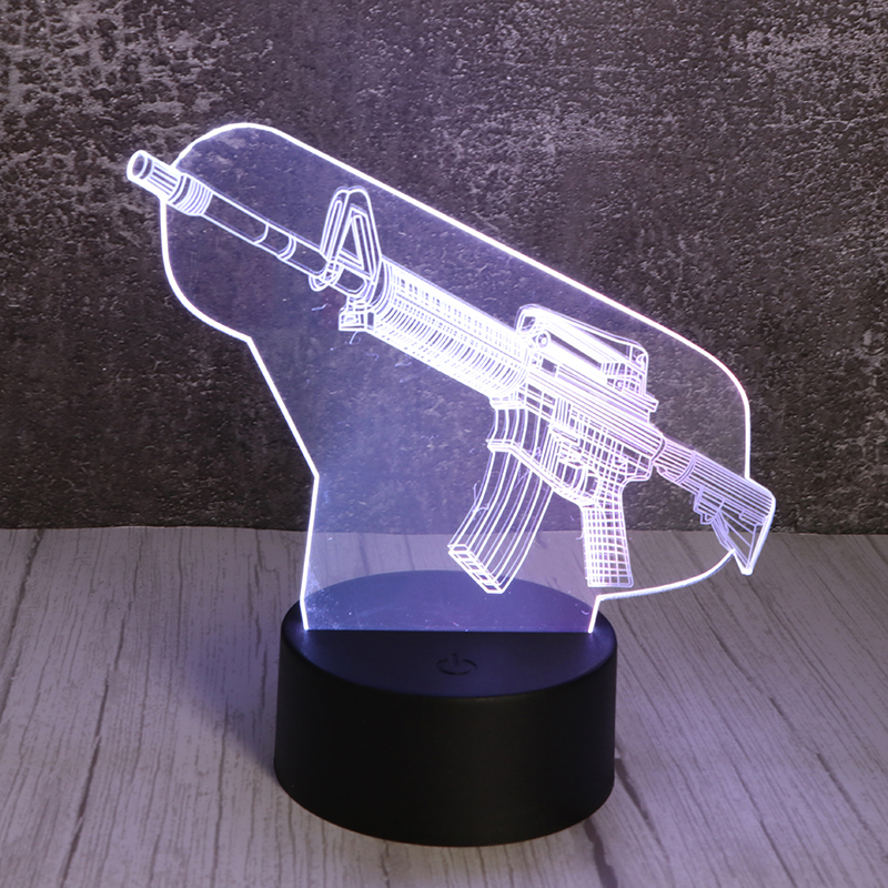 3d创意小夜灯USB插电亚克力小夜灯厂家定制