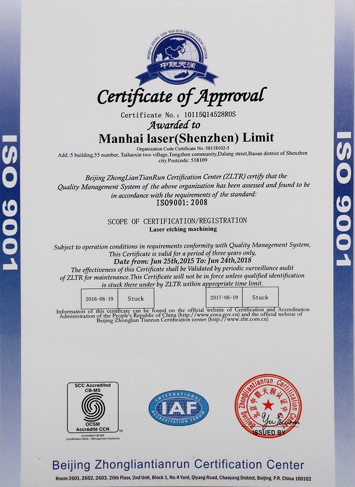 ISO9001:2008认证证书-1