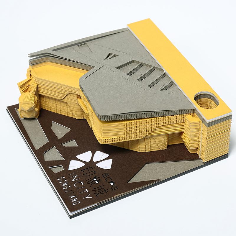 3d立体便签纸建筑景观印象城3d便签纸定制厂家