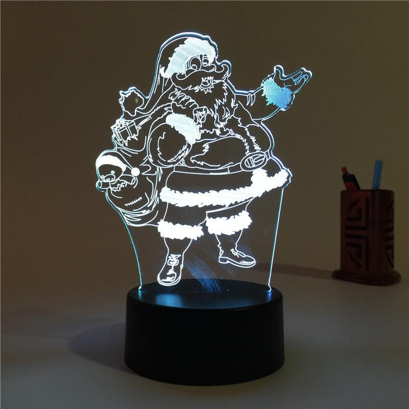 圣诞节亚克力小夜灯激光雕刻圣诞贺卡激光切割加工