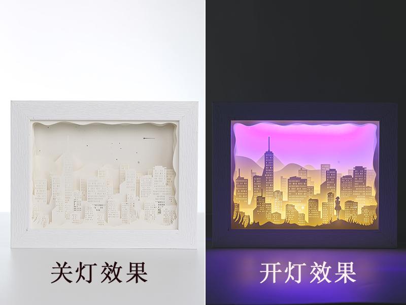 家居创意光影纸雕灯小夜灯定制厂家