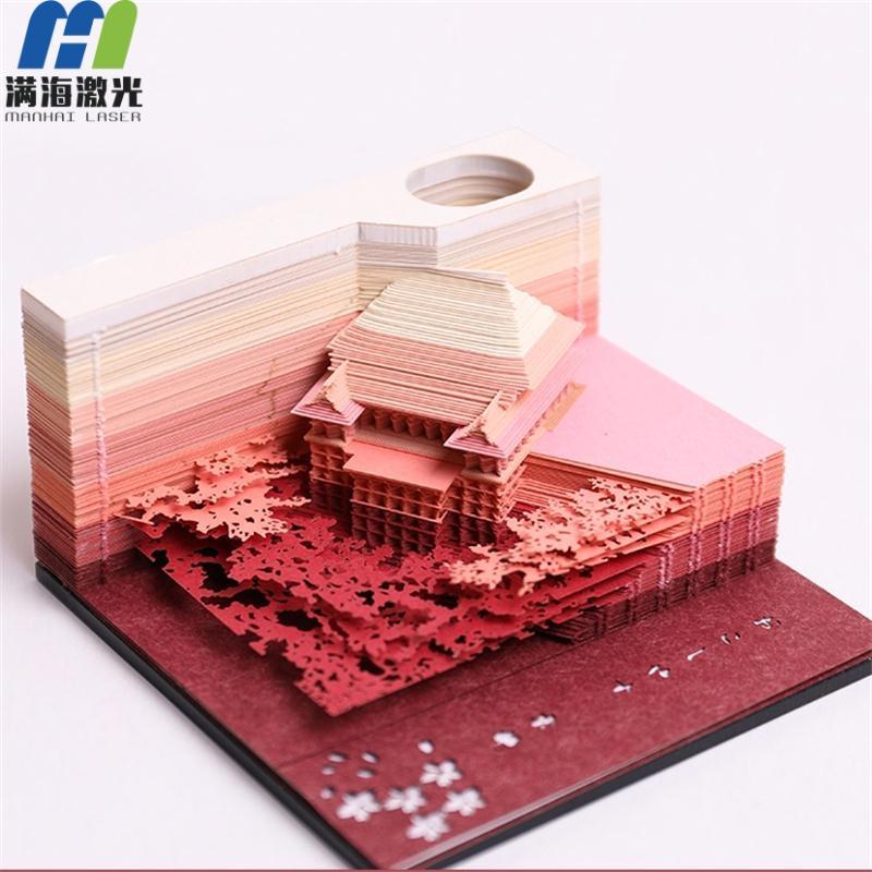 抖音便签纸创意3d立体模型纸雕便签纸定制批发
