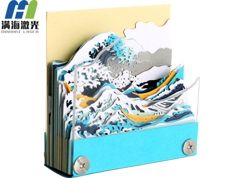 古风日本神奈川冲浪里立体模型便签纸定制