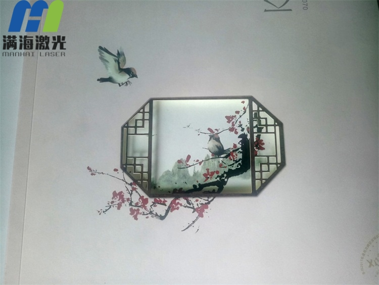 京基地产画册纸封面激光镭雕加工