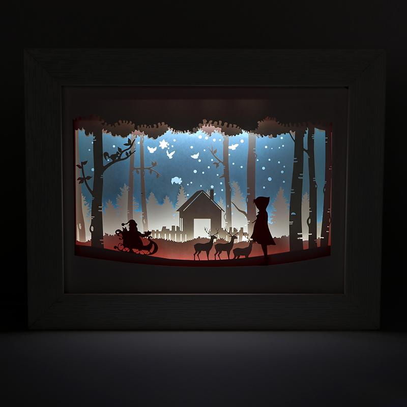 圣诞纸雕灯