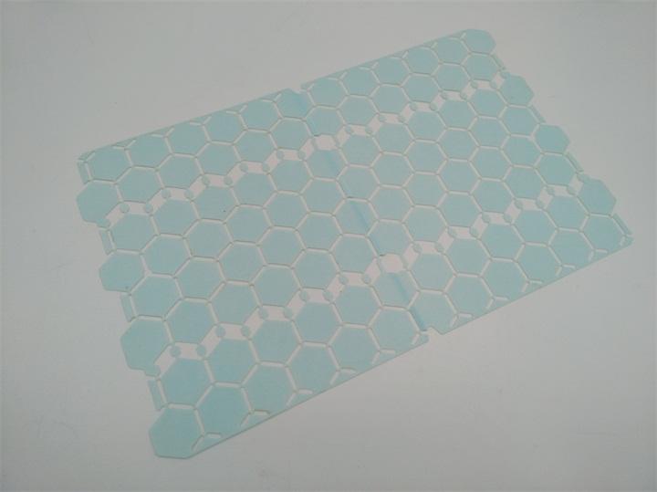 塑胶片激光切割过程