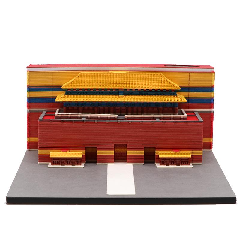 3d立体建筑模型便签纸北京天安门建筑模型便签纸厂家定制