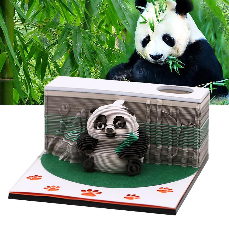 3d模型便签纸创意立体模型便签纸立体熊猫便签纸厂家定制