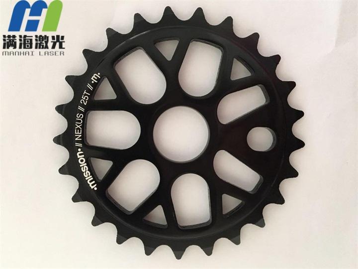 自行车配件牙盘激光刻字加工