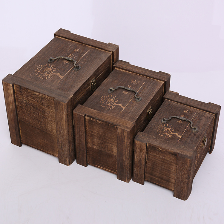 定制木制茶叶包装盒高品质激光刻字