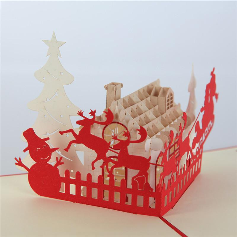 圣诞贺卡激光切割加工