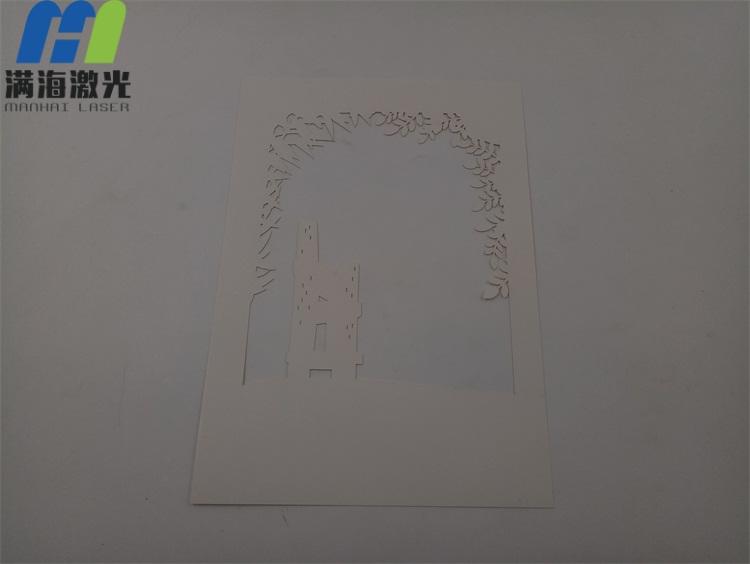 纸雕灯白色卡纸激光雕刻加工