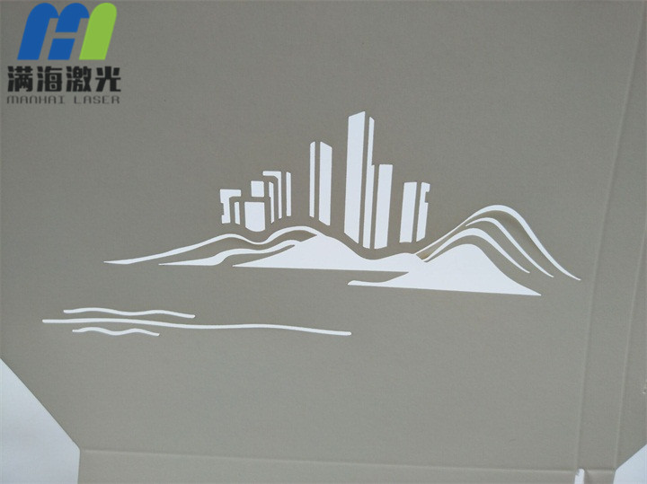 济南高新区项目宣传折页激光雕花