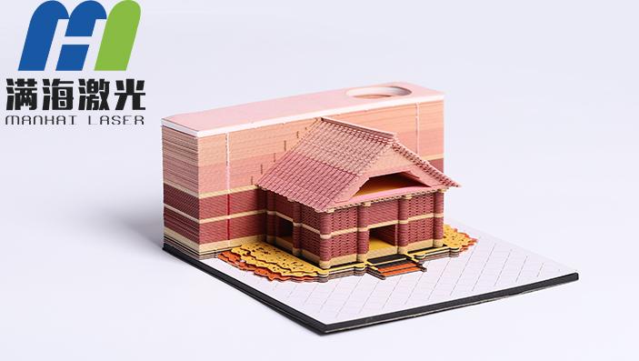 3D建筑便签企业礼品定制,他们为何都选择满海激光?