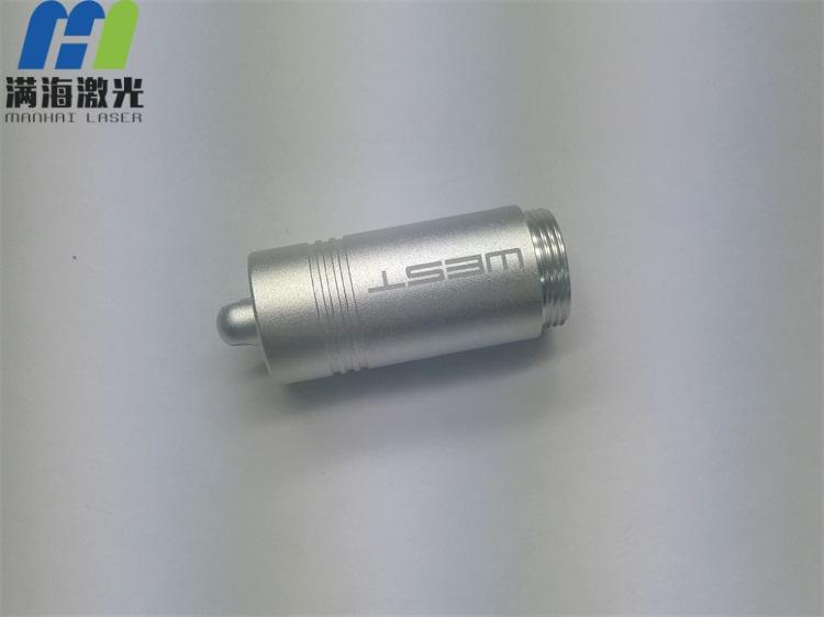 金属铝合金手电筒外壳高精度激光打标